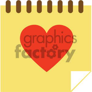 love notes vector icon clipart. Royalty-free image # 404081
