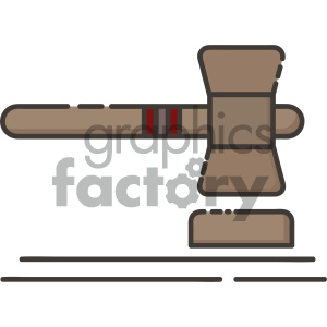 gavel vector art clipart. Commercial use image # 404101