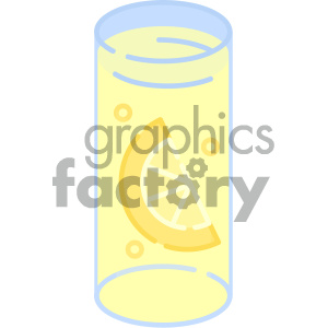 Lemonade glass vector art clipart. Royalty-free image # 404103