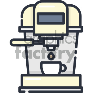 Coffee machine vector art