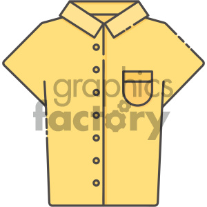 yellow collar shirt vector art clipart. Royalty-free image # 404118