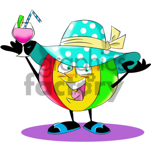 cartoon beach ball character clipart. Commercial use image # 404189