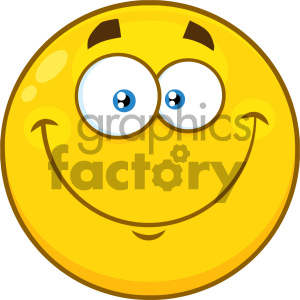 Royalty Free RF Clipart Illustration Smiling Yellow Cartoon Smiley Face Character With Happy Expression Vector Illustration Isolated On White Background clipart. Commercial use image # 404494