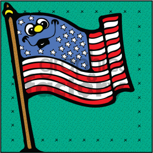 4th+of+july america USA patriotic flag cartoon