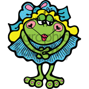 cartoon clipart frog 011 c clipart. Royalty-free image # 404736