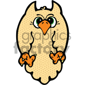 cartoon owl 002 c clipart. Royalty-free image # 404756