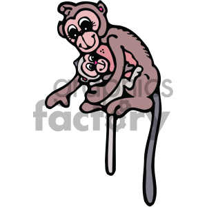 cartoon monkey clipart. Commercial use image # 404812