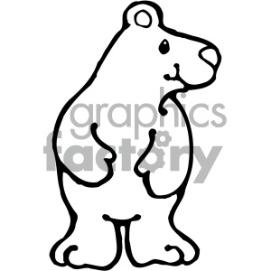 cartoon clipart Noahs animals bear 006 bw clipart. Royalty-free image # 404912