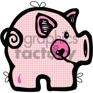 cartoon clipart pig 001 c clipart. Commercial use image # 404916