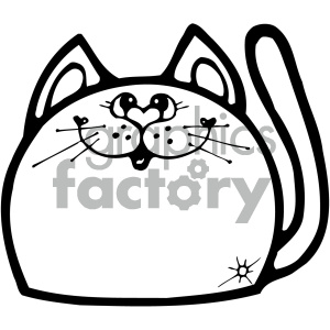 cartoon clipart gumdrop animals 007 bw clipart. Royalty-free image # 404942