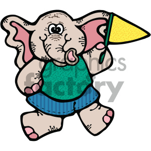 cartoon clipart elephant 002 c clipart. Royalty-free image # 404968