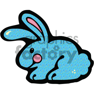cartoon clipart blue bunny rabbit 013 c clipart. Royalty-free image # 404982