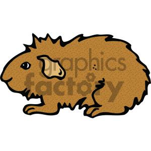 cartoon clipart guinea pig 001 c clipart. Commercial use image # 404988