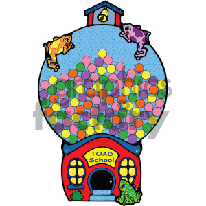 school gumball machine clips 001 c clipart. Royalty-free image # 405025