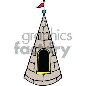 cartoon buildings architecture vector castle window roof PR