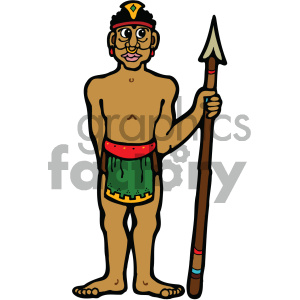 cartoon buildings architecture vector history ancient egypt egyptian tribal tribe warrior african african+american spear PR