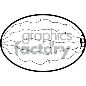 watermelon outline clipart. Commercial use image # 405078