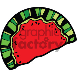 slice of watermelon clipart. Commercial use image # 405084