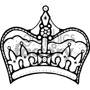 black white clipart crown clipart. Royalty-free image # 405125