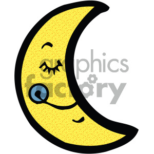 cartoon moon image clipart. Commercial use image # 405199