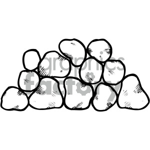 black white stone clipart clipart. Royalty-free image # 405231