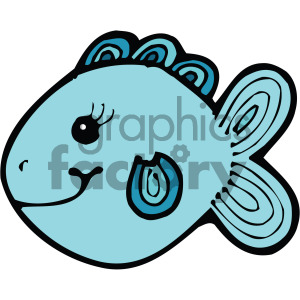cartoon fish blue