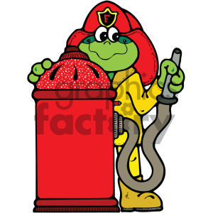 fire fighting frog cartoon vector art clipart. Royalty-free image # 405295