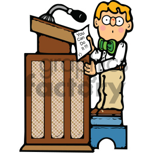child reading at a podium clipart clipart. Royalty-free image # 405315