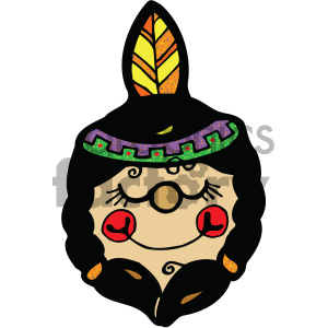 native american indian girl art clipart. Royalty-free image # 405367