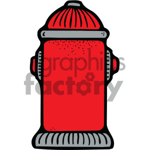 cartoon people human character cute fire+hydrant safety