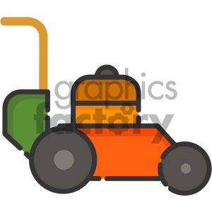 lawn mower vector royalty free icon art