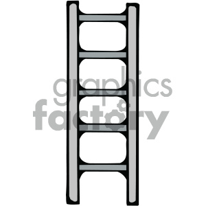cartoon ladder vector image clipart. Royalty-free image # 405433