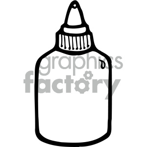 glue bottle black white clipart. Commercial use image # 405445
