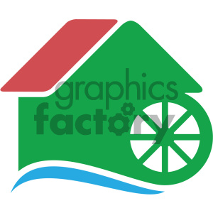 watermill vector icon clipart. Royalty-free image # 405493