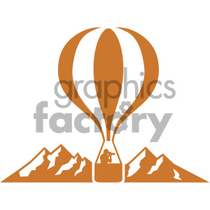 hot air balloon vector icon clipart. Royalty-free image # 405525