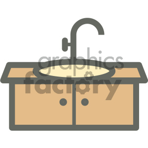 bathroom sink furniture icon clipart. Royalty-free image # 405680