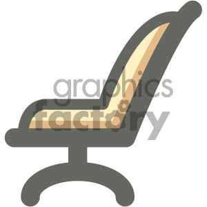 executive chair furniture icon clipart. Royalty-free image # 405685