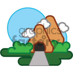 mountain tunnel nature icon clipart. Royalty-free icon # 405740