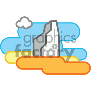 icon nature mountains iceberg
