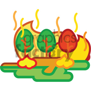 forest fire nature icon clipart. Royalty-free image # 405750