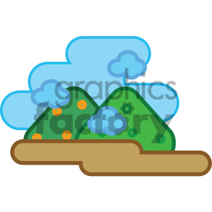 mountains nature icon clipart. Royalty-free icon # 405751