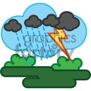 thunderstorm nature icon