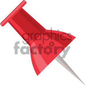 thumbtack vector flat icon clipart. Commercial use image # 405778