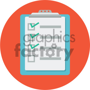 clipboard circle background vector flat icon clipart. Commercial use icon # 405790