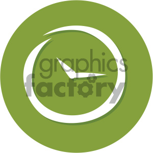 clock timer circle background vector flat icon clipart. Commercial use image # 405803