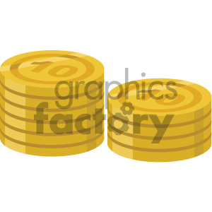 coins vector flat icon clipart. Royalty-free icon # 405813
