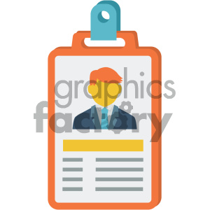 id card vector flat icon clipart. Commercial use image # 405818