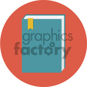 book circle background vector flat icon clipart. Royalty-free image # 405835
