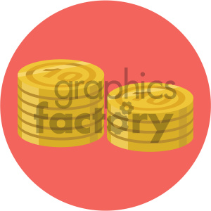 coins circle background vector flat icon clipart. Commercial use image # 405850