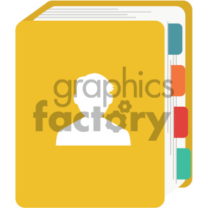 contact book vector flat icon clipart. Royalty-free icon # 405863